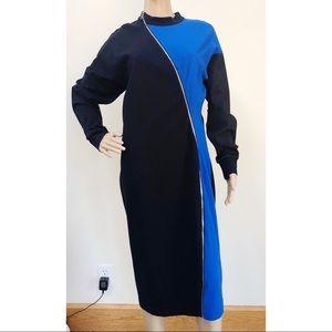 NWT Lacoste Fashion Show Dress Zipper Colorblock